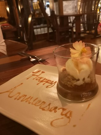 Apple Crumble Pie. The thoughtful surprise gift for us of Tahanan Bistro <3